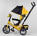 Трехколесный велосипед желтый с ручкой Best Trike 6588, фото 3