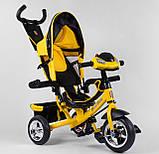 Трехколесный велосипед желтый с ручкой Best Trike 6588, фото 2