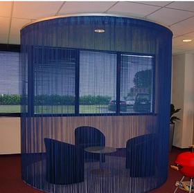 Нити шторы кисея синий 215