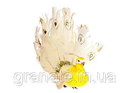 Декоративная птица Павлин 20см, 6шт