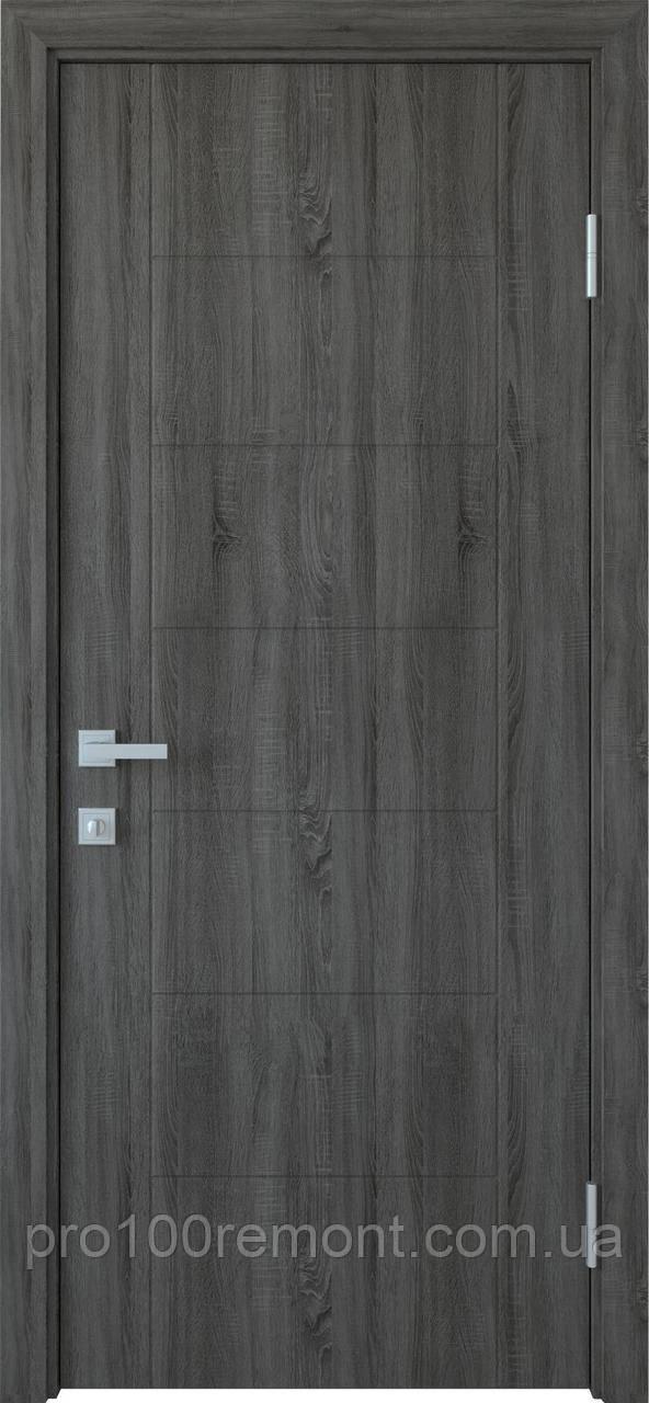 Полотно Рина ПВХ Deluxe глухое с гравировкой от Новый стиль (grey, венге new, золотая ольха, каштан, ясень)