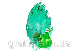 Декоративная птица Павлин 20см, 6шт зелёный
