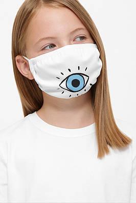 Маска защитная детская тканевая с рисунком