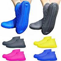 Бахилы силиконовые на обувь от воды и грязи (размер M) (W89) (200)