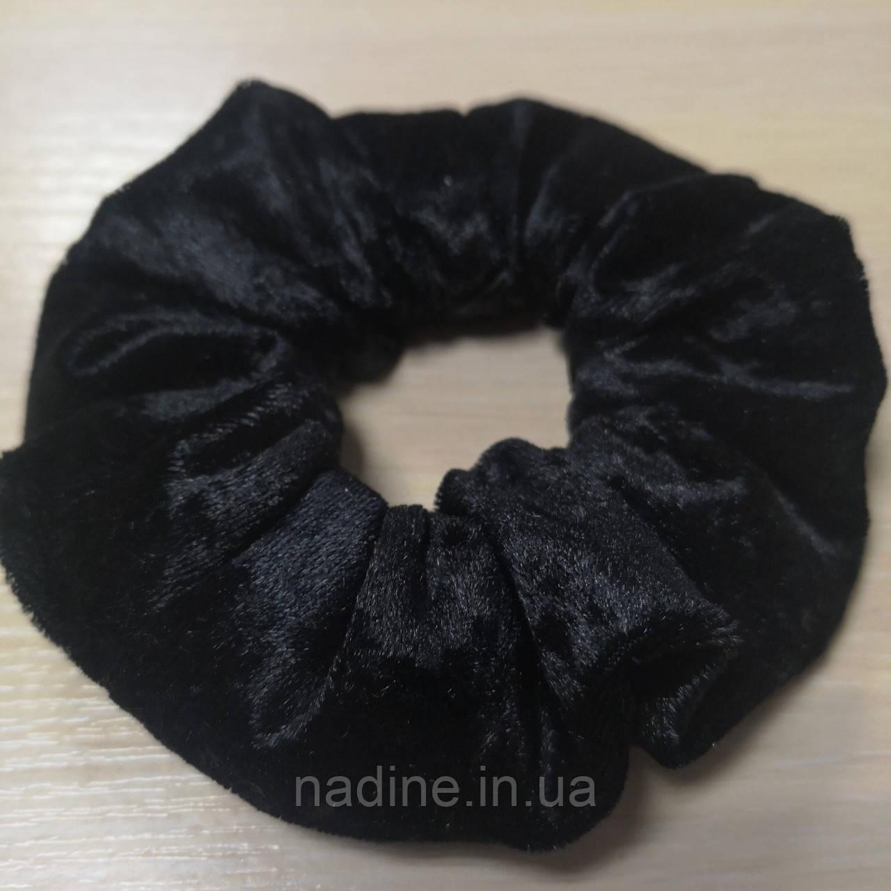 Черная велюровая резинка для волос Eirena Nadine (205-R)