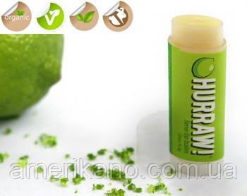100 % натуральный бальзам для губ Hurraw Lime Лайм