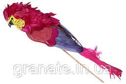Декоративная птица Попугай 35см (2 шт) красный