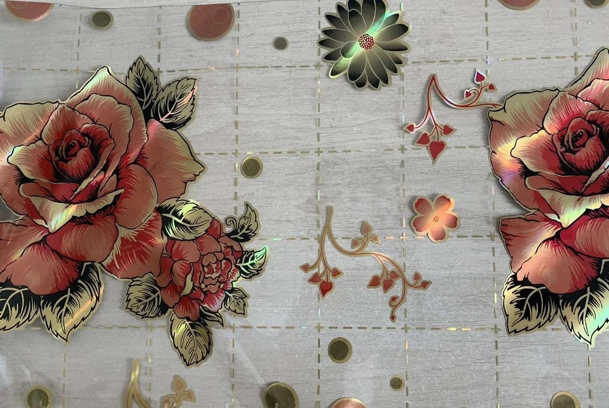 Мягкое стекло Силиконовая скатерть с рисунком на стол Soft Glass (Толщина 1.5мм) Красные розы