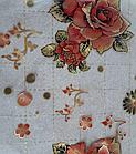 Мягкое стекло Силиконовая скатерть с рисунком на стол Soft Glass (Толщина 1.5мм) Красные розы, фото 5