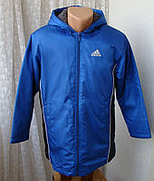 Куртка теплая спортивная капюшон Adidas р.М UK 30-32 4064а