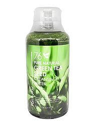 Очищуюча вода з зеленим чаєм FarmStay Pure Natural Green Tea Seed Cleansing Water