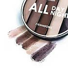 Палетка теней для век LN Professional All Day All Night шиммерные № 01 Бежевые/коричневые/кремовые/сливовые, фото 2