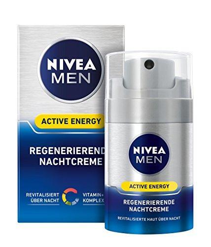 Нічний відновлюючий крем для чоловіків Nivea Men Active Energy 50мл.