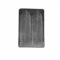 Металлизированные наклейки CANNI M-001 серебро