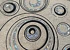 Мягкое стекло Силиконовая скатерть с рисунком на стол Soft Glass (Толщина 1.5мм) Серебристо-черные круги, фото 3