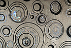 Мягкое стекло Силиконовая скатерть с рисунком на стол Soft Glass (Толщина 1.5мм) Серебристо-черные круги, фото 4