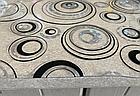 Мягкое стекло Силиконовая скатерть с рисунком на стол Soft Glass (Толщина 1.5мм) Серебристо-черные круги, фото 6