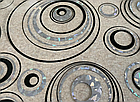 Мягкое стекло Силиконовая скатерть с рисунком на стол Soft Glass (Толщина 1.5мм) Серебристо-черные круги, фото 7