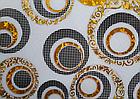 Мягкое стекло Силиконовая скатерть с рисунком на стол Soft Glass (Толщина 1.5мм) Золотые листья, фото 2
