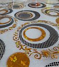 Мягкое стекло Силиконовая скатерть с рисунком на стол Soft Glass (Толщина 1.5мм) Золотые листья, фото 4