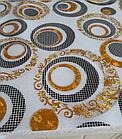 Мягкое стекло Силиконовая скатерть с рисунком на стол Soft Glass (Толщина 1.5мм) Золотые листья, фото 6