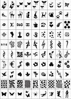 Трафареты-наклейки для маникюра (nail-art №2)