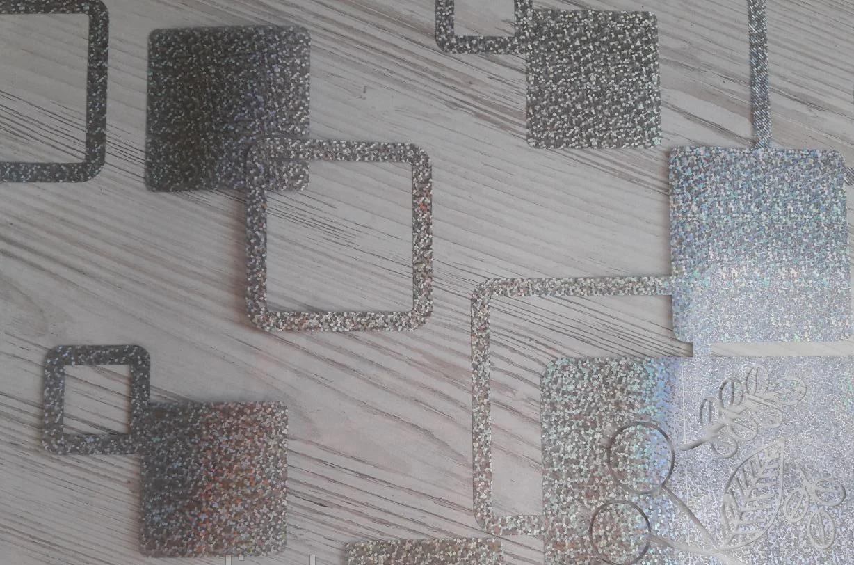 Мягкое стекло Силиконовая скатерть с рисунком на стол Soft Glass (Толщина 1.5мм) Серебристые квадраты