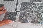 Мягкое стекло Силиконовая скатерть с рисунком на стол Soft Glass (Толщина 1.5мм) Серебристые квадраты, фото 4