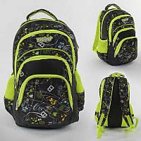 Рюкзак школьный 1 отделение, 3 кармана, мягкая спинка, в п/э /50/ (C43579)