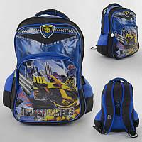 Рюкзак школьный 2 отделение, 3 кармана, 3D рисунок, ортопедическая спинка, в п/э /25/ (C43627)