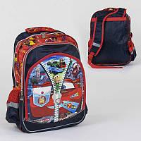 Рюкзак школьный 2 отделения, 3 кармана, 3D принт, мягкая спинка /50/ (C36262)