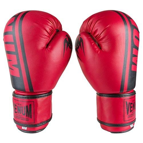 Боксерские перчатки красные 12oz Venum, PVC-19
