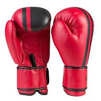 Боксерские перчатки красные 12oz Venum, PVC-19, фото 2