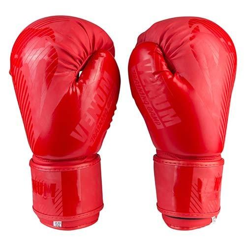 Боксерские перчатки матовые красные 10oz Venum DX-2955
