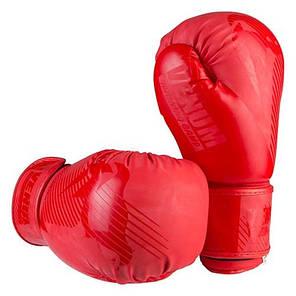 Боксерские перчатки матовые красные 10oz Venum DX-2955, фото 2