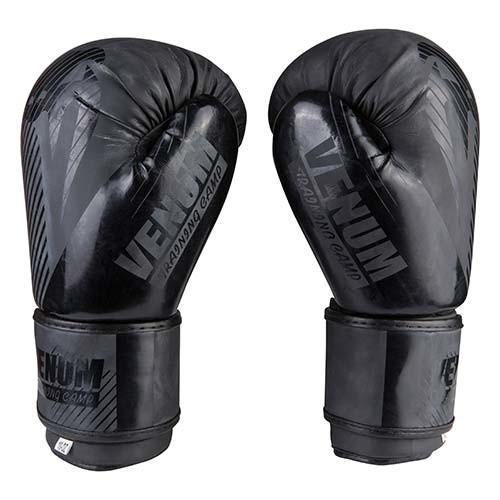 Боксерские перчатки матовые черные 10oz Venum DX-2955