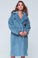 """Теплая куртка, шуба на зиму, """"Ребекка"""", эко шуба, длинное пальто, демисезонная куртка, искусственный мех"""
