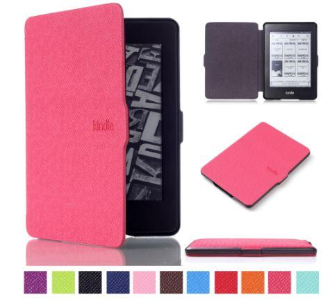 Чехол обложка  для Amazon Kindle Paperwhite  2012 2013 2015 2016 Розовый DP75 EY21 автосон