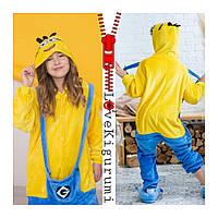 Оригинальная пижама кигуруми Миньон Minions для мальчиков и девочек все размеры в наличии