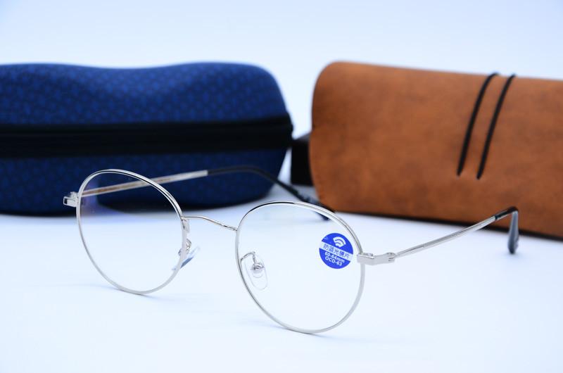 Компьютерные очки, женская оправа для очков 8706 серебро