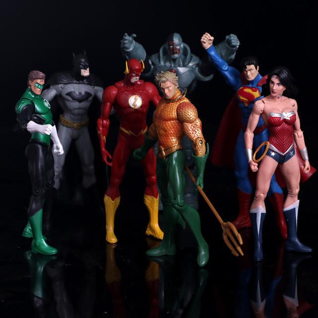 "Фигурки супергероев 7в1  ""Лига Справедливости"" - Superheroes from Justice League, DC Comics"