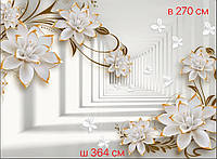 Фотообои цветы 3 д