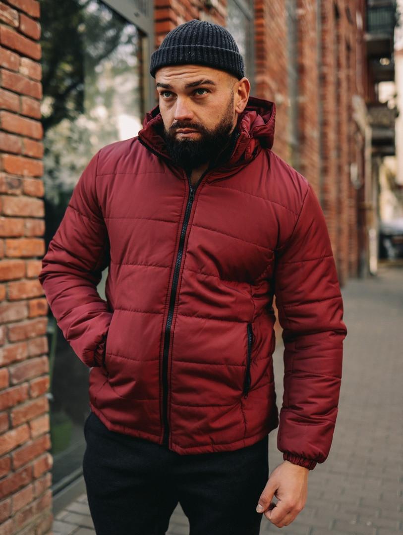 Куртка зимняя мужская Asos с капюшоном, куртка короткая, цвет бордо