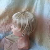 Накладка на макушку с челкой на зажимах платиновый 1369-26, фото 6