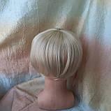 Накладка на макушку с челкой на зажимах платиновый 1369-26, фото 5