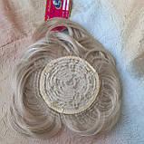 Накладка на макушку с челкой на зажимах платиновый 1369-26, фото 7