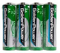 Батарейка GOLDEN POWER Long Life AA Спайка*4 Zinc-Carbon