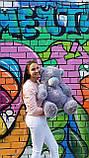 Плюшевый мишка Тедди 130 сантиметров кремового цвета, фото 5