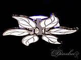 Современная светодиодная люстра 8028/6BHR LED 3color dimmer, фото 3