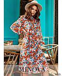 Платье №786Н-оранжевый, фото 3
